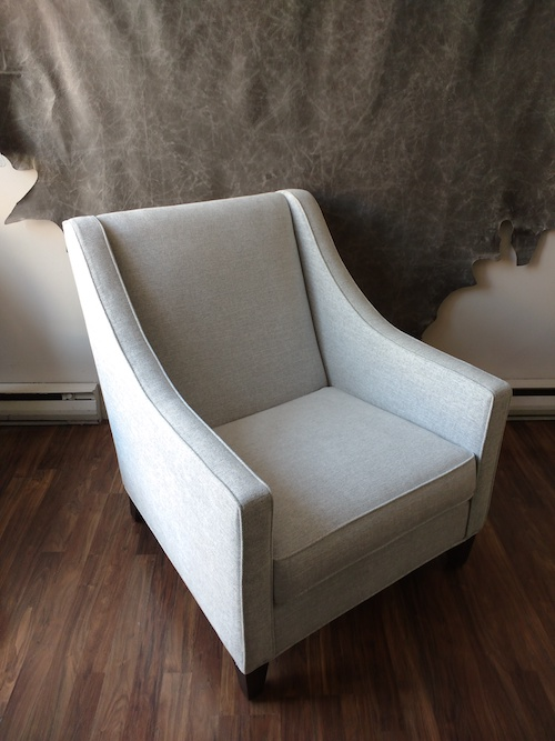 Designer Antique White Cloth Lounging Chair Mississauga