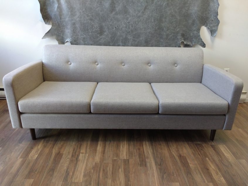 Designer Silver Grey Sofa Couch Upholstery Mississauga