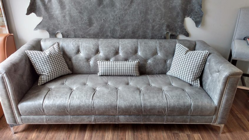Custom Grey Leather Upholstery Mississauga