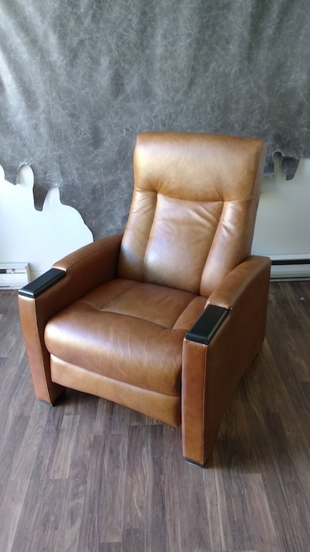 Upholstery Toronto - Custom Leather Recliner in Mississauga